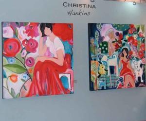 Christina Hankins' paintings