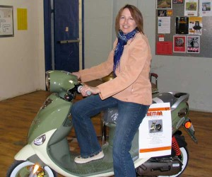 Mary on scooter