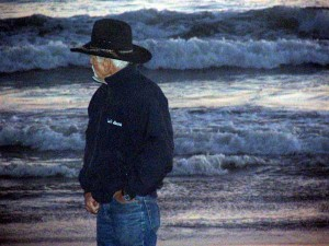 Dad on beach
