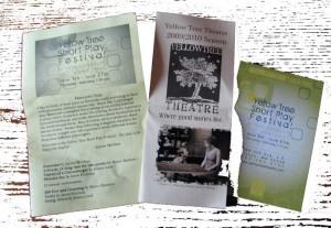 Yellow Tree Theatre flyers