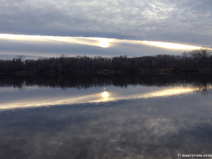 sun and cloud reflection