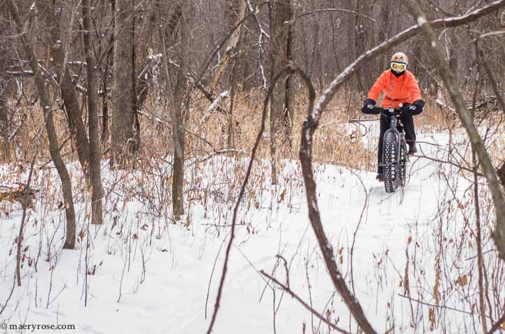 Riding fat bike
