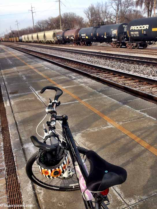 bike at train station