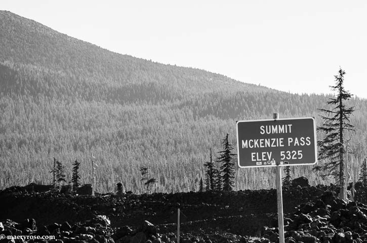 McKenzie Pass sign