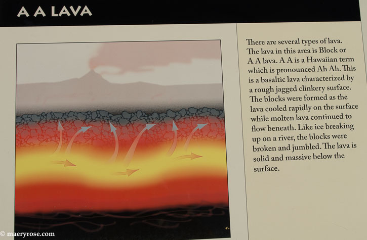 Lava Fields sign