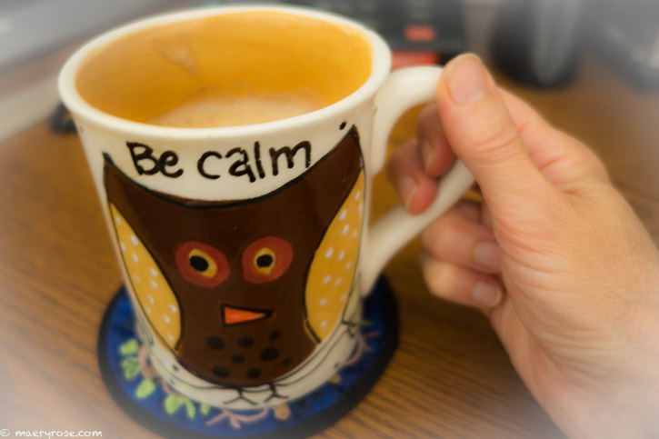 Be Calm coffee cup